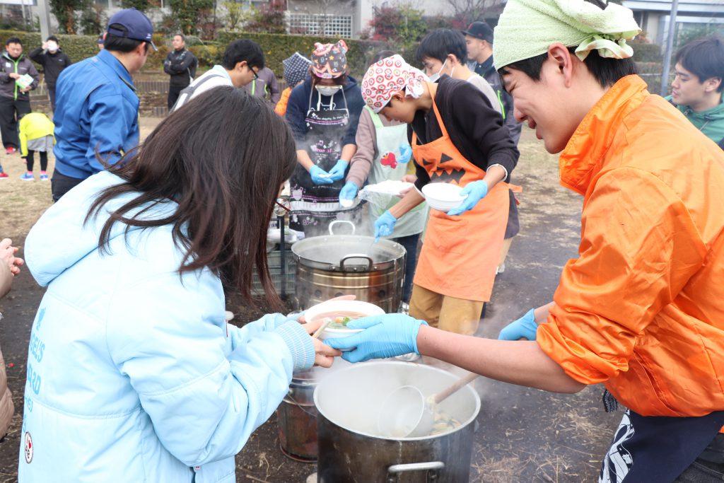 東京むさし・200125・災害時にも役立つ農地をアピール 親子防災イベントを開く