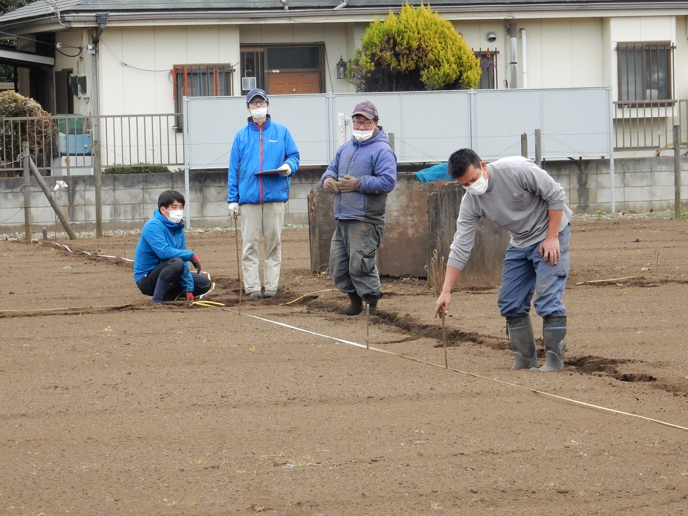 青壮年部が市民農園を整備